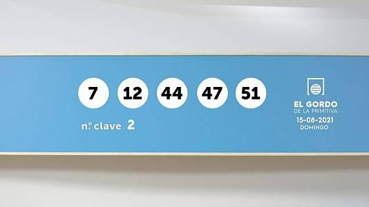 Sorteo de la Lotería Gordo de la Primitiva del 15/08/2021