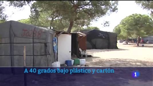 A 40 grados entre plástico y cartón