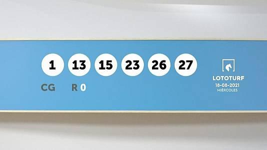 Sorteo de la Lotería Lototurf del 18/08/2021