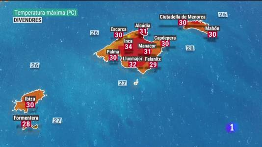 El temps a les Illes Balears - 19/08/21