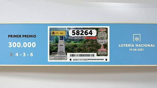 Sorteo de la Lotería Nacional del 19/08/2021