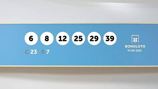 Sorteo de la Lotería Bonoloto del 19/08/2021