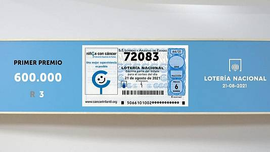 Sorteo de la Lotería Nacional del 21/08/2021