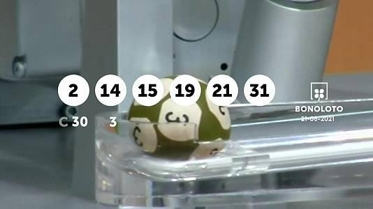 Sorteo de la Lotería Bonoloto del 21/08/2021
