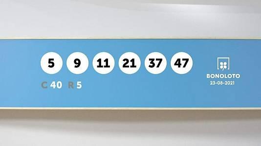 Sorteo de la Lotería Bonoloto del 23/08/2021