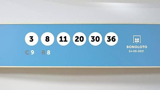 Sorteo de la Lotería Bonoloto y Euromillones del 24/08/2021