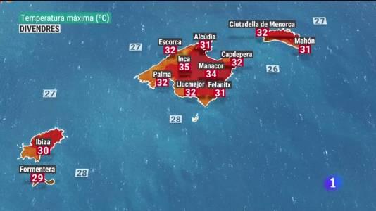 El temps a les Illes Balears - 26/08/21