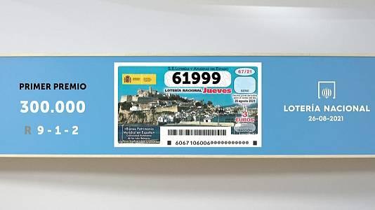 Sorteo de la Lotería Nacional del 26/08/2021