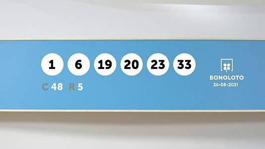 Sorteo de la Lotería Bonoloto del 26/08/2021