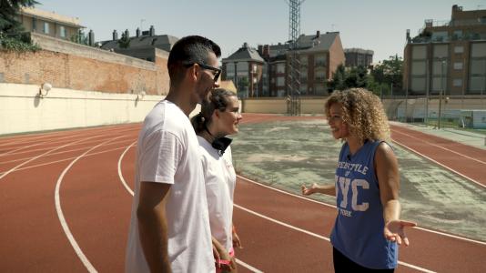 Mary Ruiz corre junto a Carmen González y Lía Beel