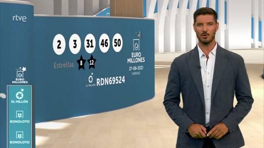 Sorteo de la Bonoloto y Euromillones del 27/08/2021