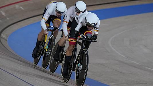 Ciclismo en pista. Velocidad por equipos C1-C5. Final bronce