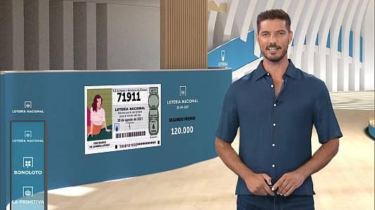 Sorteo de la Lotería Nacional del 28/08/2021