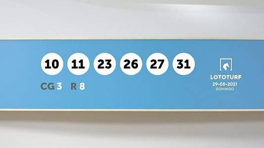 Sorteo de la Lotería Lototurf del 29/09/2021