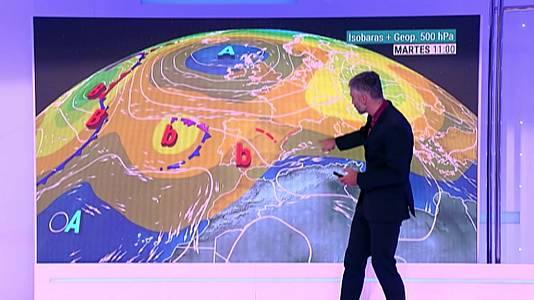Chubascos y tormentas, que podrán ser localmente fuertes y/o persistentes, durante la tarde en el interior, principalmente en montaña