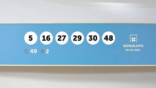 Sorteo de la Lotería Bonoloto del 30/08/2021