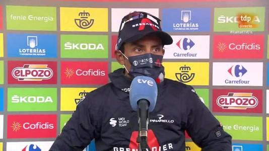 """La Vuelta 2021   Egan Bernal: """"El valiente del día ha sido Roglic"""""""