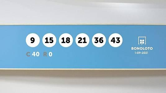 Sorteo de la Lotería Bonoloto del 01/09/2021