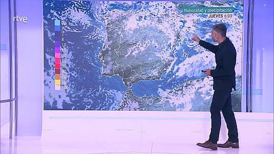 Chubascos muy fuertes en puntos del valle del Ebro, del sistema Ibérico, centro y este de la meseta Sur y Comunidad valenciana