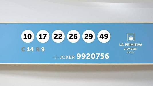 Sorteo de la Lotería Primitiva y Joker del 02/09/2021