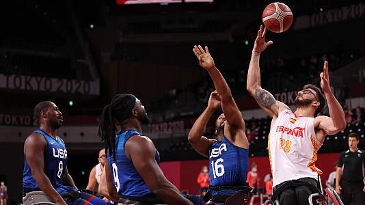 Baloncesto en silla de ruedas. Semifinales: España - Estados
