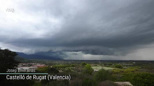 Chubascos y tormentas que pueden ser localmente fuertes en Pirineos, noreste de Cataluña e interior de Castellón