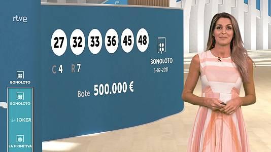 Sorteo de la Bonoloto y Euromillones del 03/09/2021