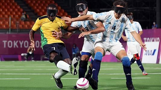 Fútbol 5: Oro. Argentina - Brasil
