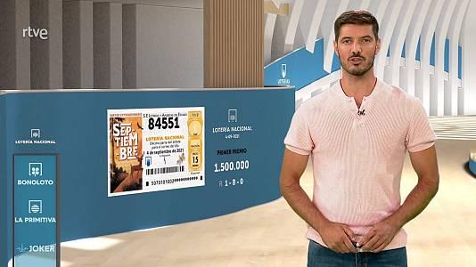 Sorteo de la Lotería Nacional del 04/09/2021