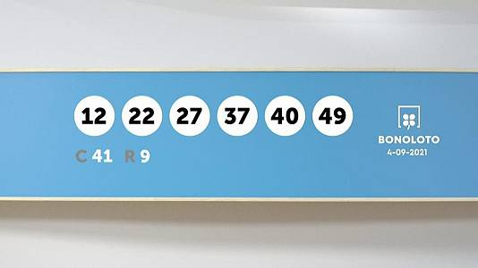 Sorteo de la Lotería Bonoloto del 04/09/2021