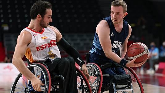 Baloncesto en silla de ruedas. Bronce: España - G. Bretaña