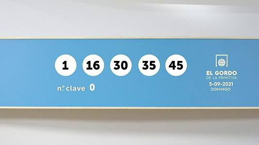 Sorteo de la Lotería Gordo de la Primitiva del 05/09/2021