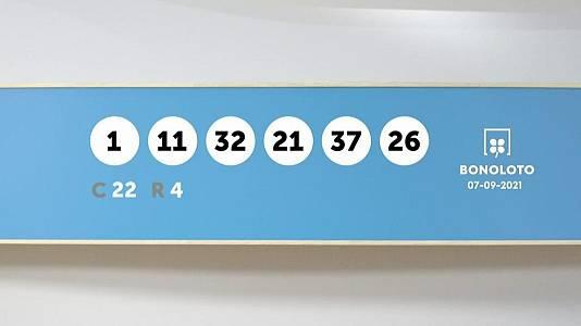 Sorteo de la Lotería Bonoloto y Euromillones del 07/09/2021
