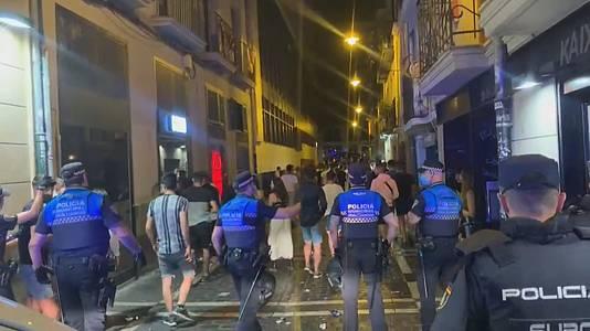 Vandalismo de botellón en Pamplona