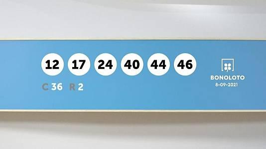 Sorteo de la Lotería Bonoloto del 08/09/2021