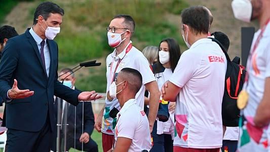"""Sánchez, a los atletas: """"Estamos orgullosos de vosotros"""""""