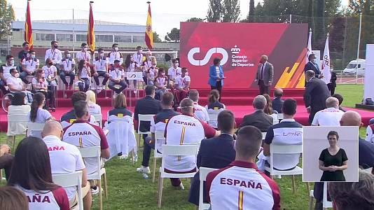 Acto de reconocimiento de los deportistas españoles en los Juegos Olímpicos y Paralímpicos de Tokyo