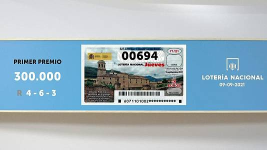 Sorteo de la Lotería Nacional del 09/09/2021