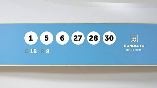 Sorteo de la Lotería Bonoloto del 09/09/2021