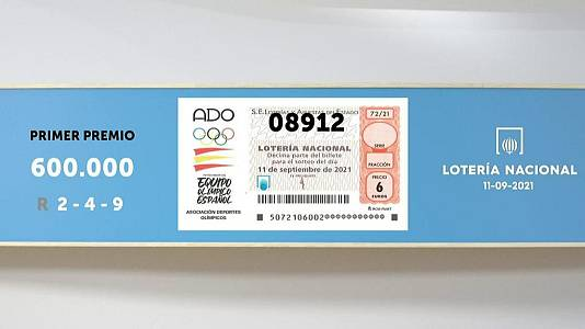 Sorteo de la Lotería Nacional del 11/09/2021