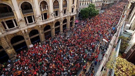 La división del independentismo se traslada a la calle en la Diada a las puertas de la mesa de diálogo