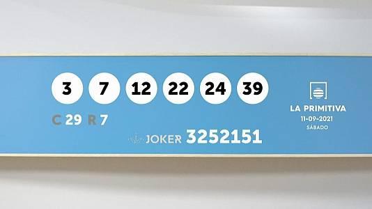 Sorteo de la Lotería Primitiva y Joker del 11/09/2021