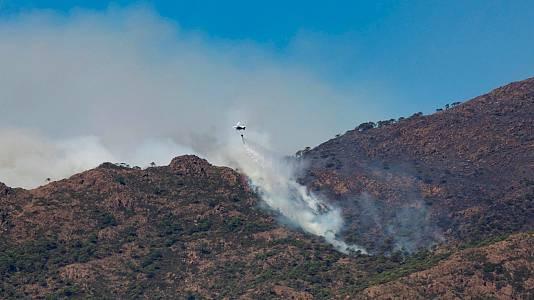 El incendio de Sierra Bermeja no da tregua