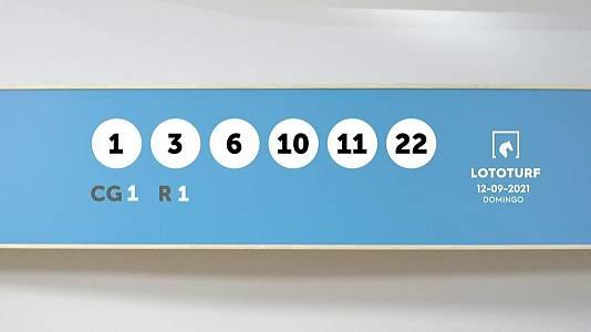 Sorteo de la Lotería Lototurf del 12/09/2021
