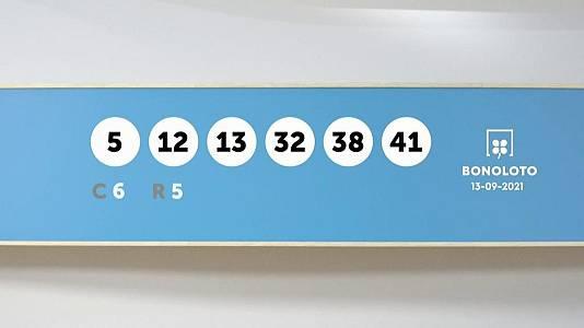 Sorteo de la Lotería Bonoloto del 13/09/2021