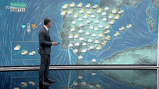 Chubascos y tormentas localmente fuertes o persistentes en zonas del noroeste peninsular, oeste del sistema Central y entorno de Pirineos