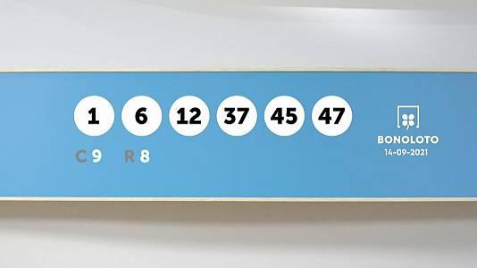 Sorteo de la Lotería Bonoloto y Euromillones del 14/09/2021