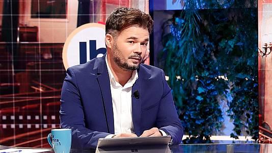 """Rufián afirma que la ausencia de Junts en la mesa de diálogo """"perjudica mucho más a quien no está"""""""
