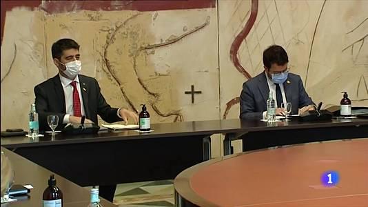 Aragonès busca acostar posicions amb Junts en una reunió amb Puigneró