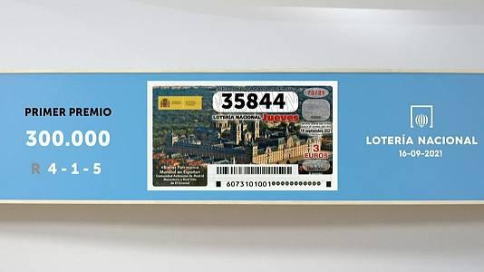 Sorteo de la Lotería Nacional del 16/09/2021